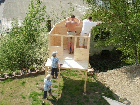 Garten 'Das Stelzenhaus unserer Söhne'