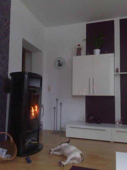 endlich steht der Kamin:) ideal für die kalten Wintertage...