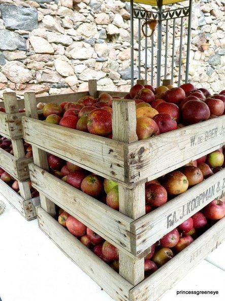 Am Samstag haben wir die ersten Winteräpfel eingelagert - sie werden zu Apfelsaft verarbeitet