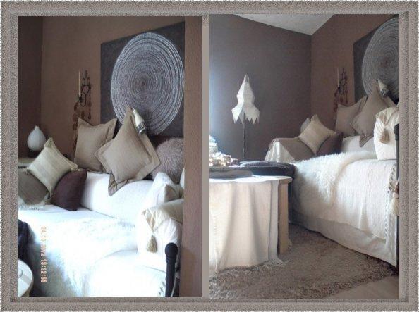 Während einer kleinen ZS Auszeit habe ich nun die Wände braun gestrichen und neue Kissen dazu genäht