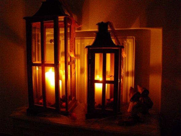 Hier seht ihr meine absoluten Dekolieblinge :-)  Ich liebe diese Laternen, allein weil man sie passend zu jeder Jahreszeit dekorieren kann. Mit