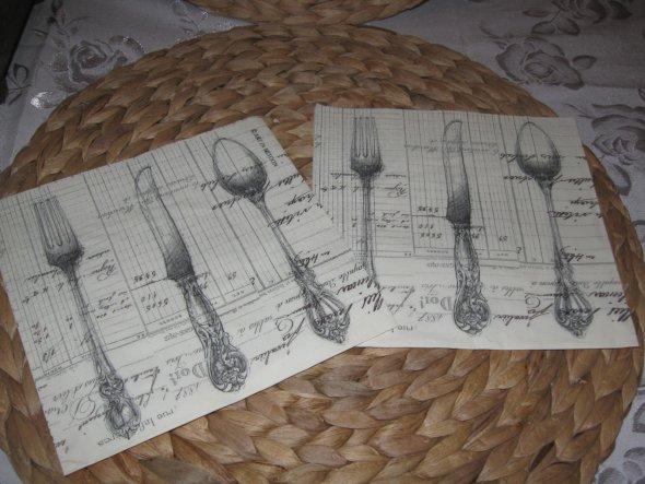 Servietten im Jeanne D´arc Stil...4 Stück zum basteln oder dekorieren?