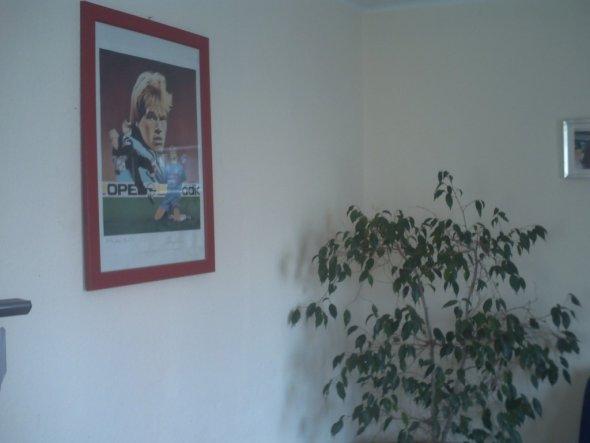 Diesen Kunstdruck habe ich mal bei einem Preisausschreiben des FC Bayern gewonnen. Darf nie fehlen, zumal mein Mann und ich beide FC Bayern Fans sind