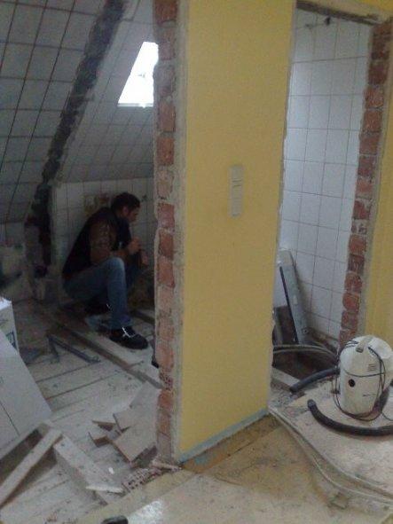 Die Toilette war separat,alter Eingang rechts