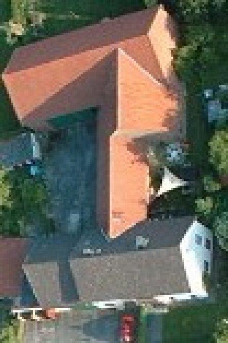 Hausfassade / Außenansichten 'Luftansicht unseres Hauses'