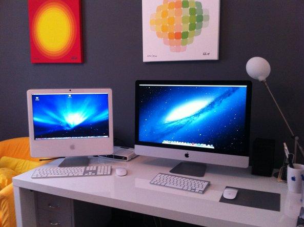 Den neuen iMac gerade erst aufgestellt - und die Daten vom alten übertragen.