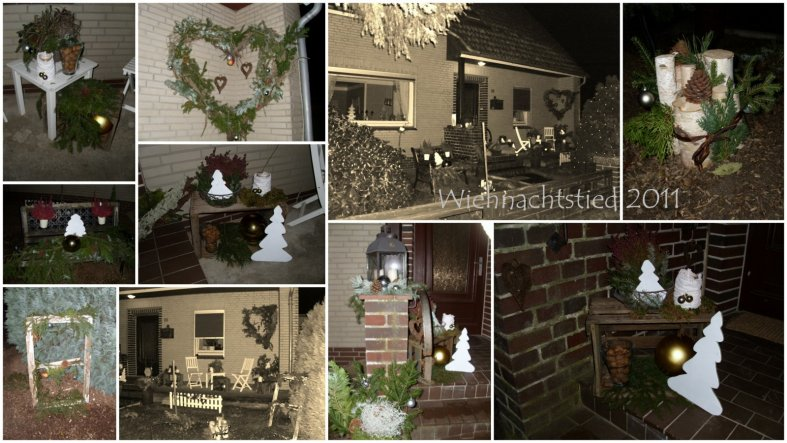 Weihnachtsdeko 'Wiehnachtstied'
