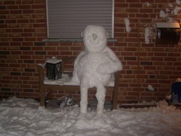 """Das ist Horst, unser Schneemann aus dem """"letzten"""" Winter... Dieses Jahr hatten wir leider bisher auch noch keinen Schnee..."""