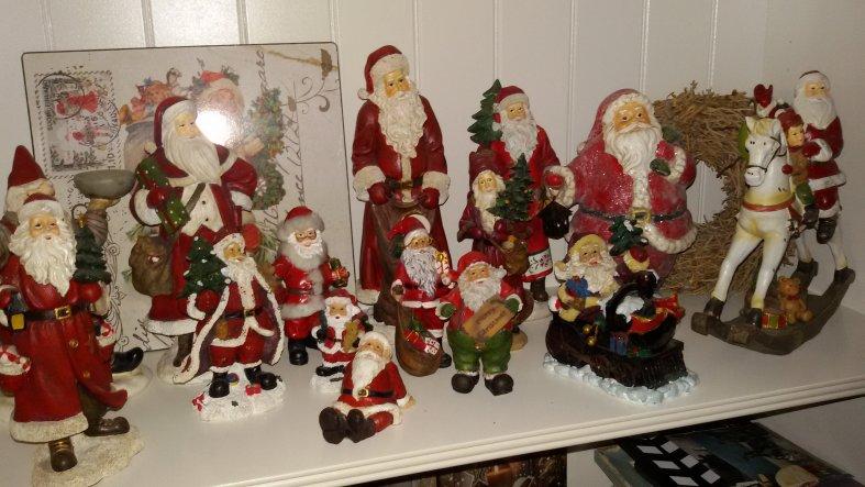Meine Weihnachtsmannsammlung.