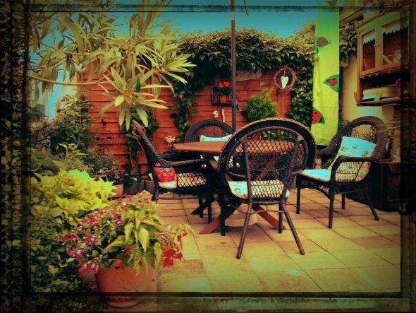 Terrasse / Balkon 'unsere shabby terrasse '