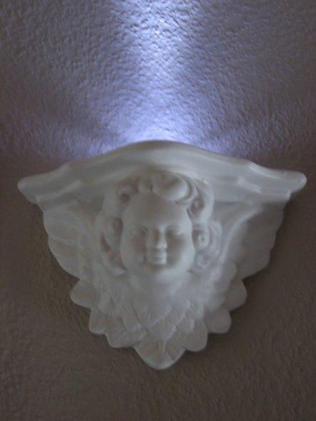 Dekoputten neu lackiert, passend zum Spiegel mit LED Beleuchtung.