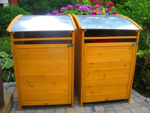 Meine zwei entzückenden Müllboxen.