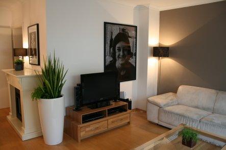 Wohnzimmer In Braun Creme