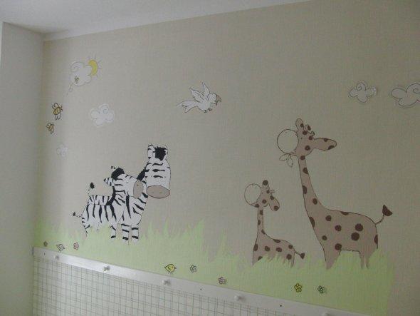 Kinderzimmer 39 kinderzimmer 39 unser neues haus zimmerschau - Wandbemalung ideen ...