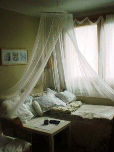 Die Schlafstatt, bevor wir ein Schlafzimmer hatten