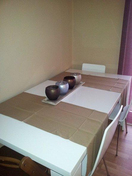 Wohnzimmer 'Wohnen, Essen, Leben'