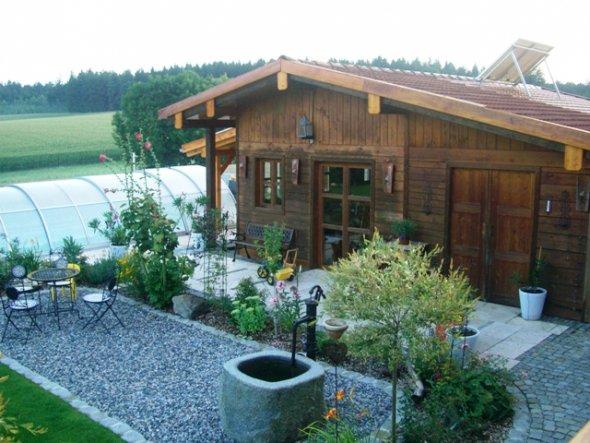Unser 1998 selbst gebautes Gartenhaus