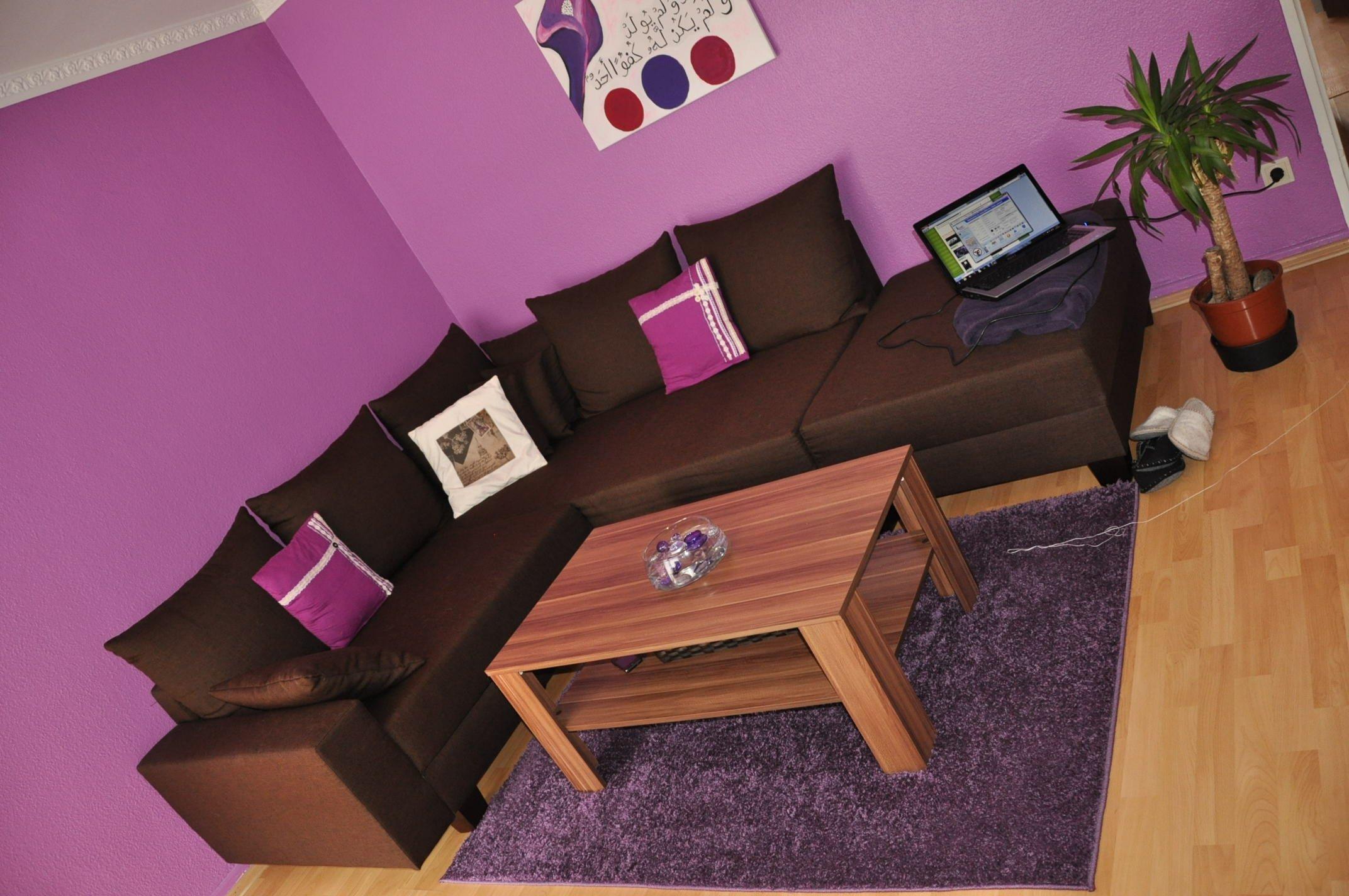 """Wohnzimmer Unsere kleine """"Purple Rain"""" Wohnung von Jamilah ..."""