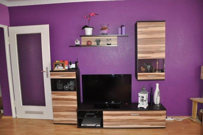 wohnzimmer 'mein wohnzimmer' - mein wohnzimmer - zimmerschau - Wohnzimmer Lila Braun