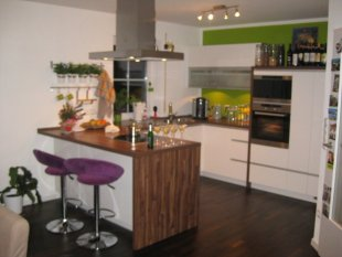 Wohnzimmer, Esszimmer, Küche