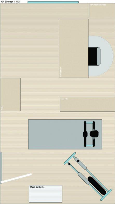 Arbeitszimmer / Büro 'Raum OG groß'