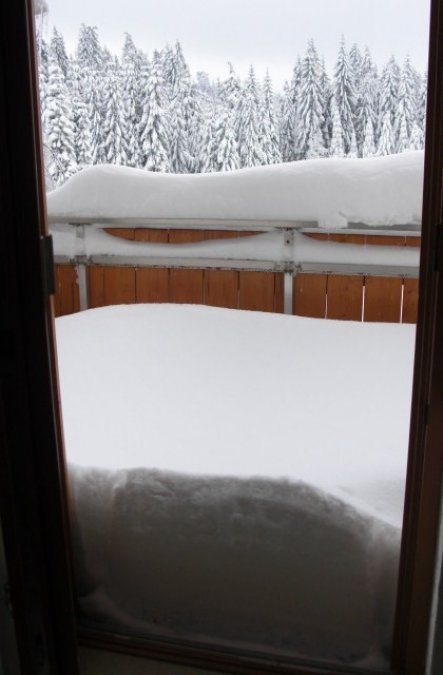 Terrasse / Balkon 'terasse im winter'