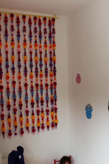 Der Wandbehang war Deko in einem Warenhaus.