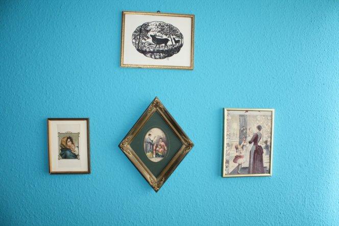 Meine Wandbehängung, die ich mir auf ebay und Flohmärkten zusammengesammelt habe