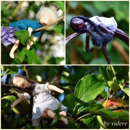 Meine Träumerle im Garten. Dauerschläfer.