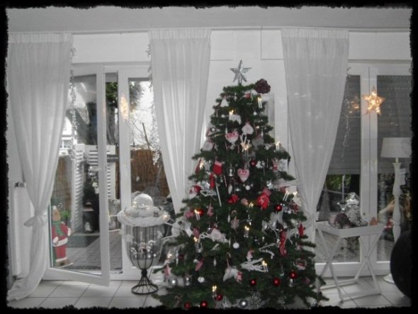 Weihnachtsdeko 39 unser weihnachtsbaum 2012 39 unser zuhause for Weihnachtsbaum rot silber