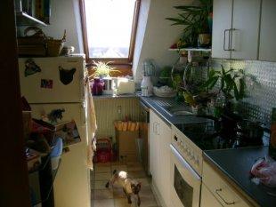 Die Küche in ihrem Normal-Zustand