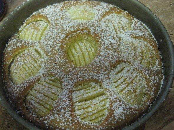 Apfelkuchen im Rührteigmantel - einfach, schnell und schmeckt gut
