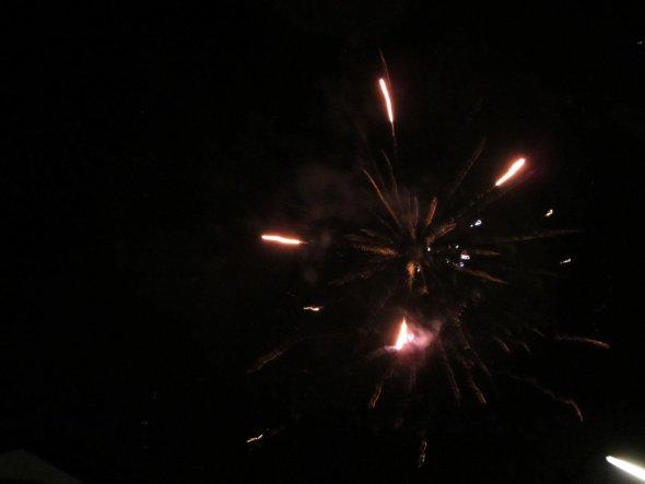 Feuerwerk im Neuen Jahr 2012