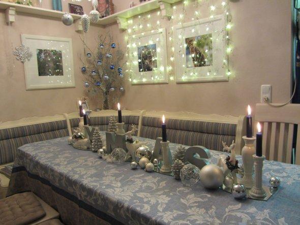Tischdeko am Weihnachtsabend