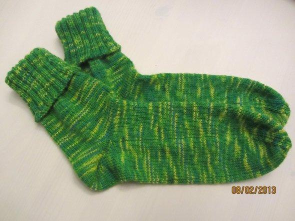 Socken mit der Bumerang-Ferse