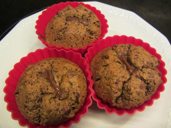 Eierlikör-Schoko-Muffins mit flüssigem Schokokern