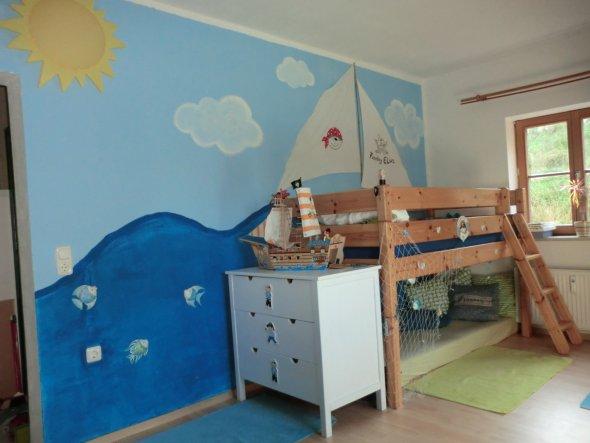 Kinderzimmer 39 piratenzimmer 39 sweet home zimmerschau for Kinderzimmer himmel
