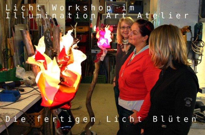 Gemeinsames arbeiten und gestalten kreativer Ideen im inspirativen Rahmen unter fachlicher Anregung und Anleitung. Ein mobiler Licht und Kunst