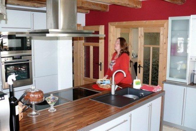 Unsere Küche mit Küchenblock.