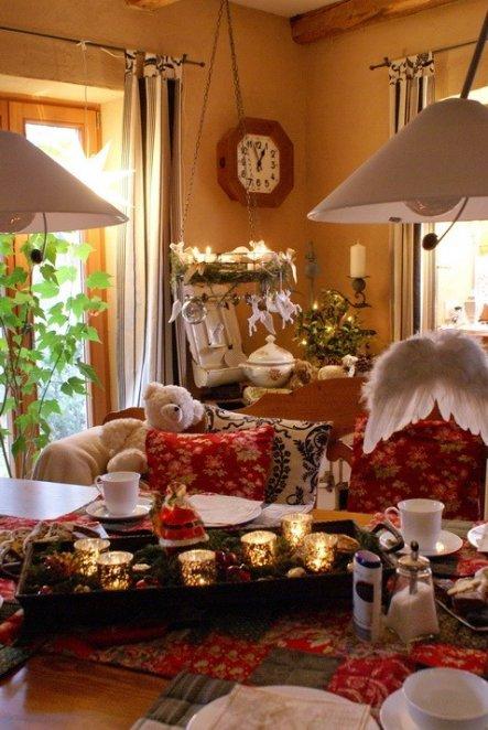 Mit Bank Und Stuhlen : Ef dc b esstisch weihnachtszeit mit bank und ...