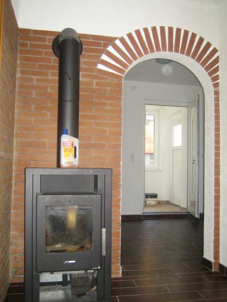 Bild 2 Blick vom Eingang auf den Ofen