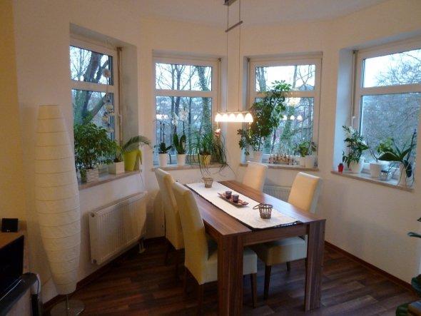 Esszimmer 39 tischlein deck dich 39 homesweethome zimmerschau - Gardinen erker ...