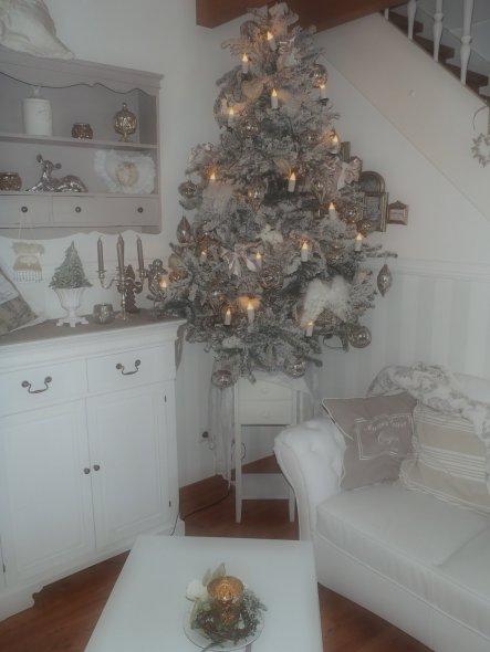 Wohnzimmer 39 weihnachten 39 sweet cottage zimmerschau - Weihnachten wohnzimmer ...