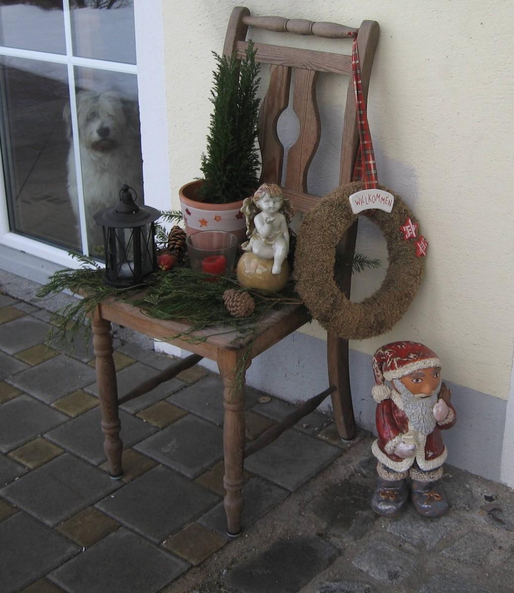 Weihnachtsdeko Stuhl.Hausfassade Außenansichten Villa Kunterbunt Von Mamapia 30865