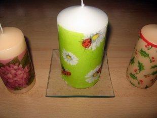 Kerzen verzieren