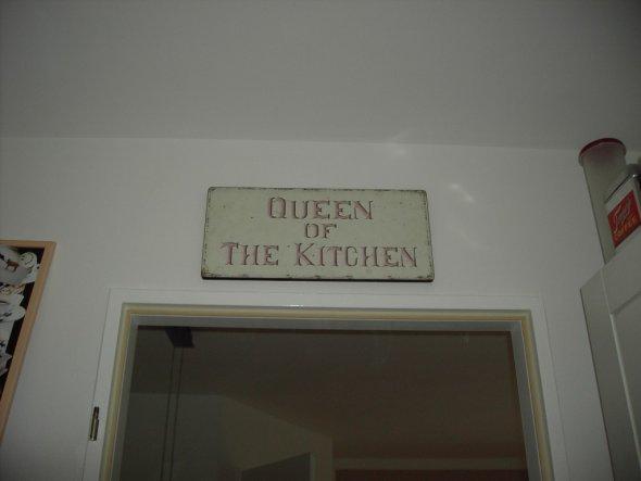 Queen of the Kitchen - ich bin das mit Sicherheit nicht! Mein Mann hat das Sagen in der Küche!