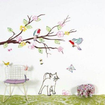 Ungefähr so habe ich mir mein Wandbild vorgestellt .. Möchte es gerne  in den Braun tönen haben & nur die Vögel sollen in Farbe sein .. Hoffe es w