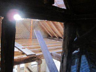 Arbeitszimmer / Büro 'Innenansichten Anbau 2.Stock /Giebel'