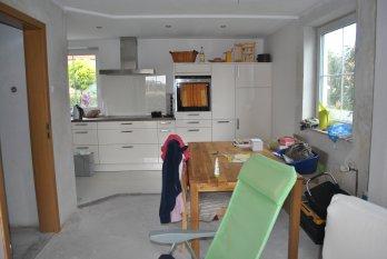 Küche + Wohnzimmer vor und nachher