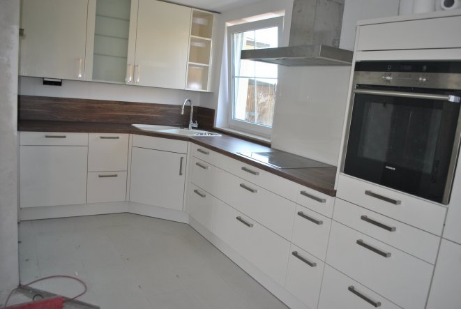 Wohnzimmer 'Küche + Wohnzimmer vor und nachher'